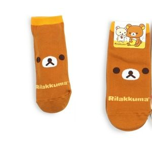 One pair of Rilakkuma low cut socks